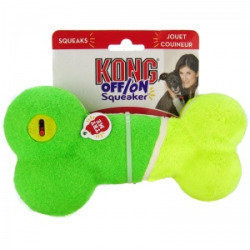 Kong Off/On Squeaker - Bone: Large - Squeaky Dog Toys (RPAL-B9)