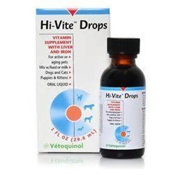 **SALE Hi-Vite Drops Vitamin Supplement w/Liver & Iron For Active Or Aging Dog Cats Puppies Kittens (1 fl oz) (12/17) (O.D1)