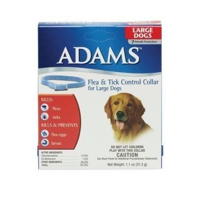 Adams Flea & Tick Control Flea and Tick Collar for Large Dogs (7 Month Control) (O.H1/PR)