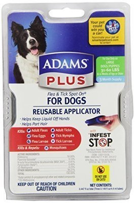 Adams Plus Flea And Tick Control For Dogs 31 to 60# Reusable Applicator **May Ship Out of Box**(O.I1)