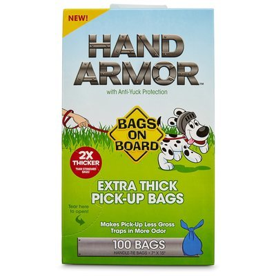 Bags on Board Hand Armor Extra Thick Dog Waste Pick-Up Bags, 100 count (B.B5)