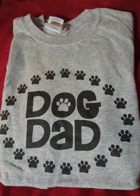 Dog Dad T-Shirt Grey Small Only (RPAL126)