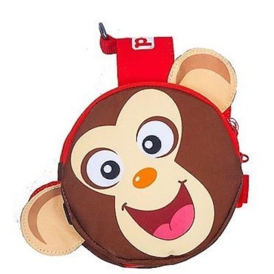 Outward Hound Pal Pak Backpack & Harness W/ Poop Bag Holder Monkey Medium (B.A18/C6)