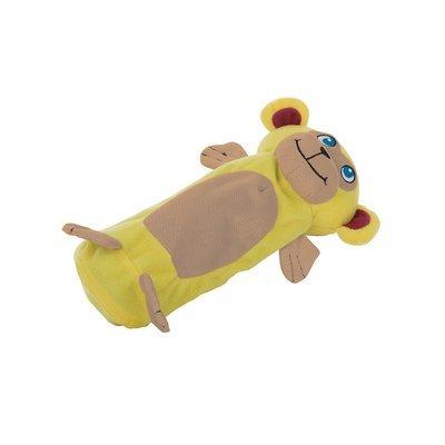 Outward Hound Bottle Gigglers Yellow Monkey Dog Toy, 10.5