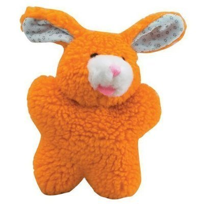 Cuddly Berber Fleece Babies Dog Toy, Bunny, 8-Inch, Orange (RPAL102)