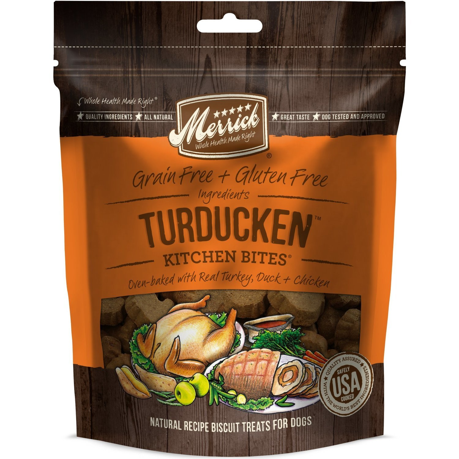 Merrick Turducken Kitchen Bites Dog Treats, 9 oz. (2/19) (T.E5)