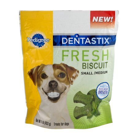 Pedigree Dentastix Fresh Biscuit, Small/Medium, 1 lb (12/18) (T.E12)