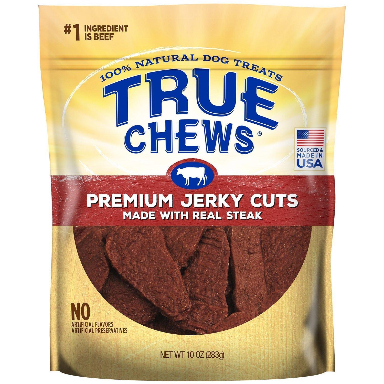 True Chews Premium Jerky Cuts Made with Real Steak Natural Dog Treats, 10 oz. (3/19) (T.B2)