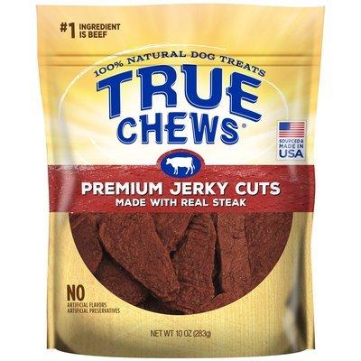 True Chews Premium Jerky Cuts Made with Real Steak Natural Dog Treats, 10 oz. (5/19) (T.B2/DT)