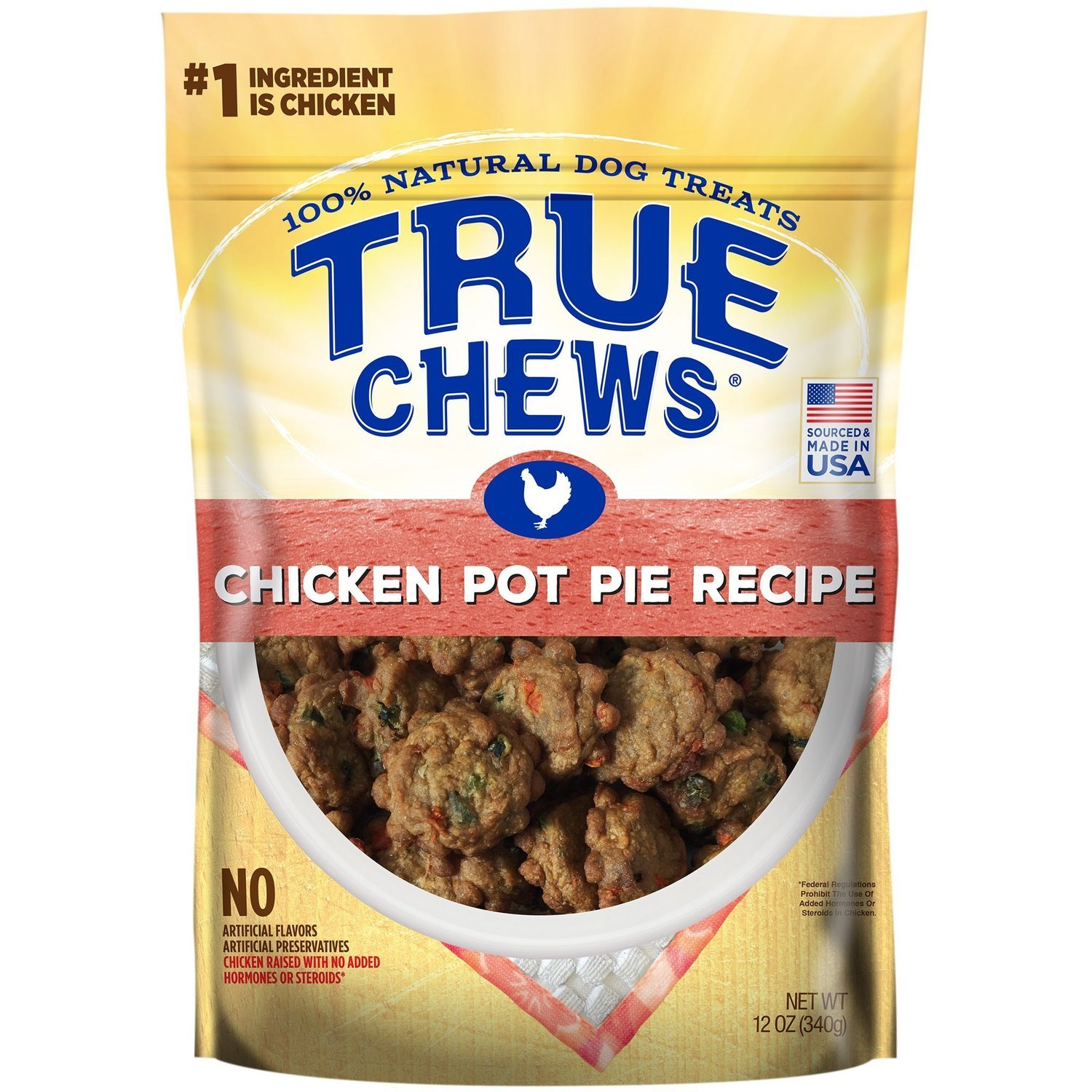 True Chews Chicken Pot Pie Recipe Natural Dog Treats, 12 oz. (5/19) (T.B3)