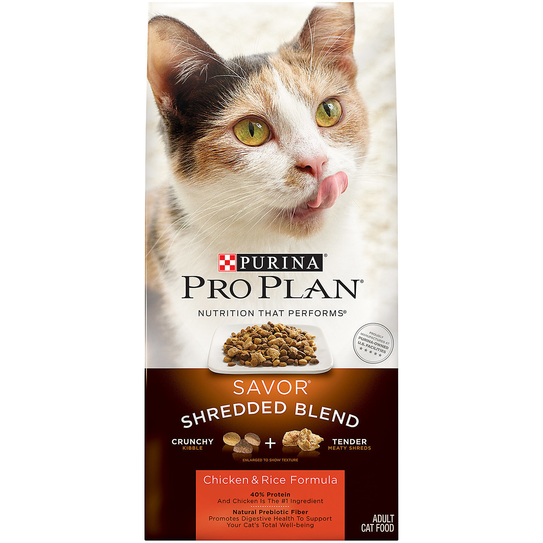 Pro Plan Savor Shredded Blend Chicken & Rice Adult Cat Food, 6 lbs. (3/19) (A.J2)