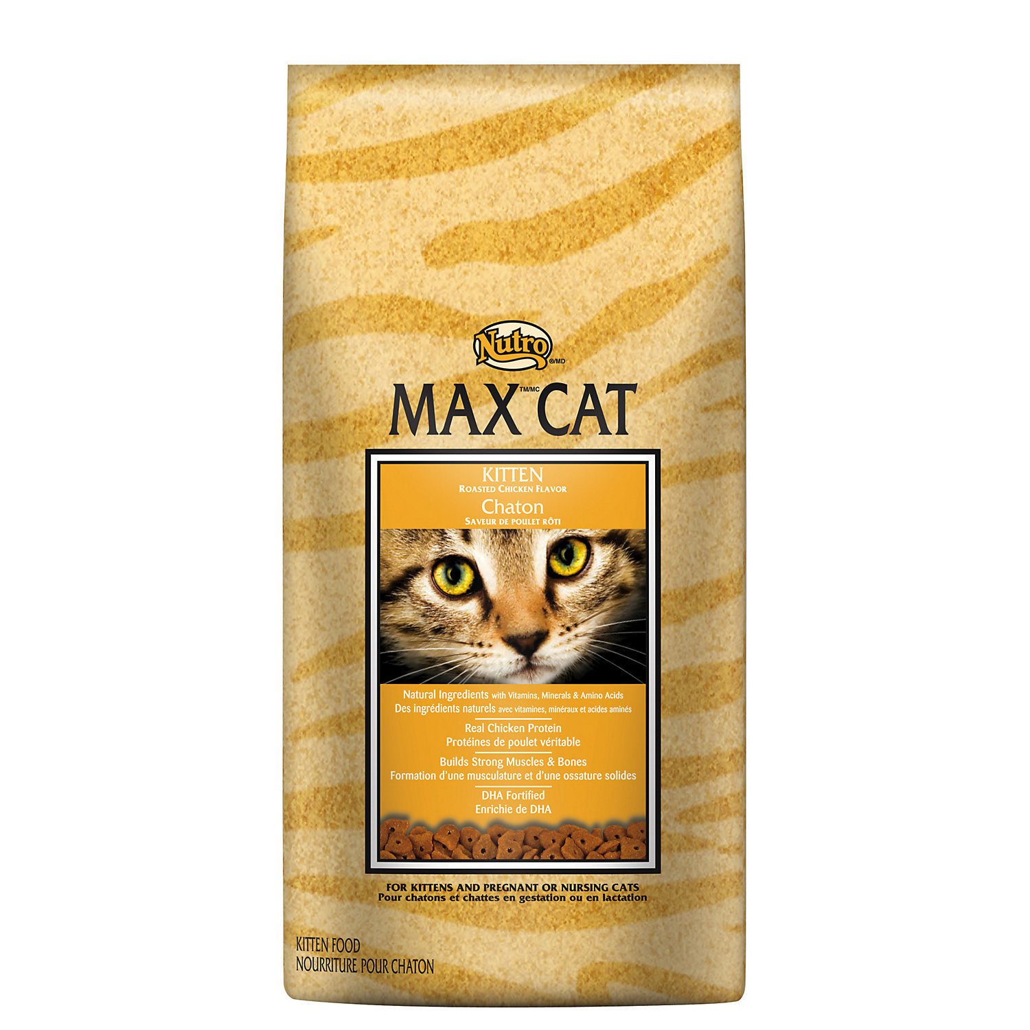 Nutro MAX CAT Kitten Food - Roasted Chicken Flavor 6 lbs. (4/19) (A.K5)