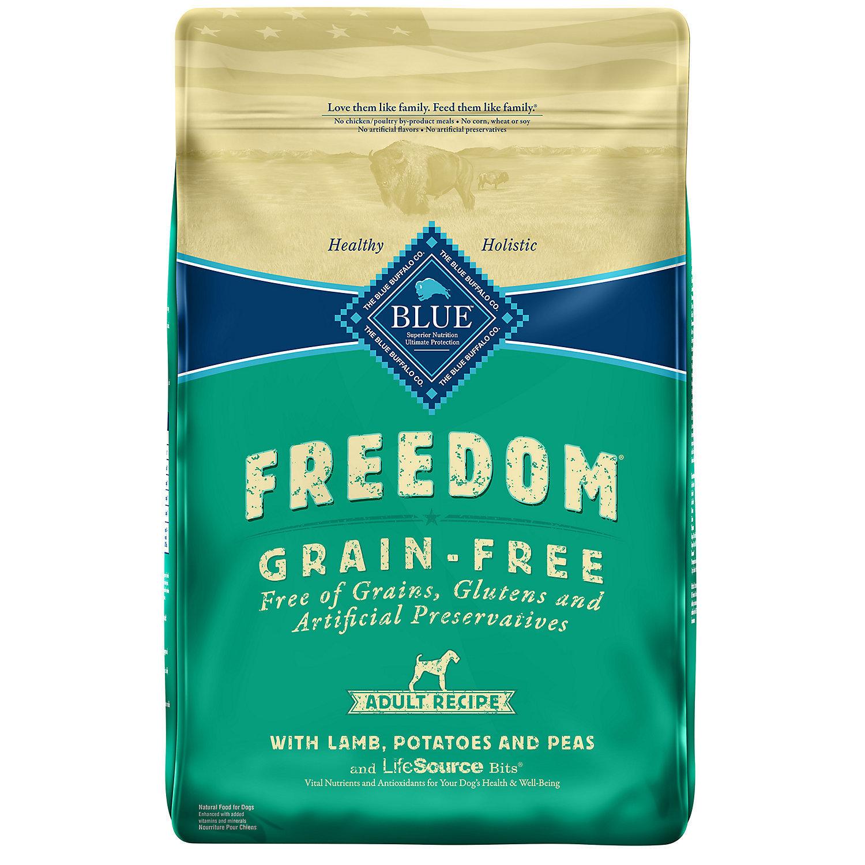 Blue Buffalo Freedom Grain Free Lamb Recipe Adult Dog Food, 4 lbs. (8/18) (A.M1)