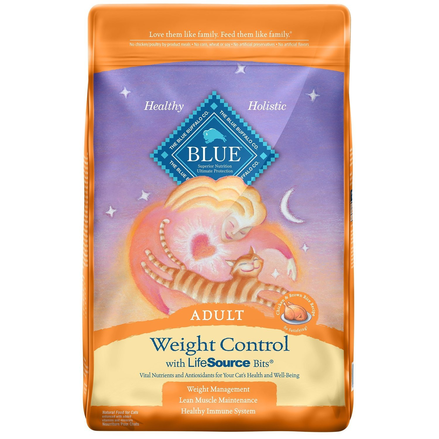 Blue Buffalo Weight Control Chicken & Brown Rice Adult Cat Food, 15 lbs. (8/18) (A.P3)
