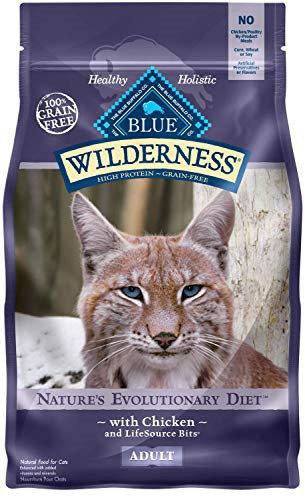 Blue Buffalo Wilderness Cat 100-percent Grain Free Chicken Formula Dry Cat Food, 2 Lb Bag (5/19) (A.O8)