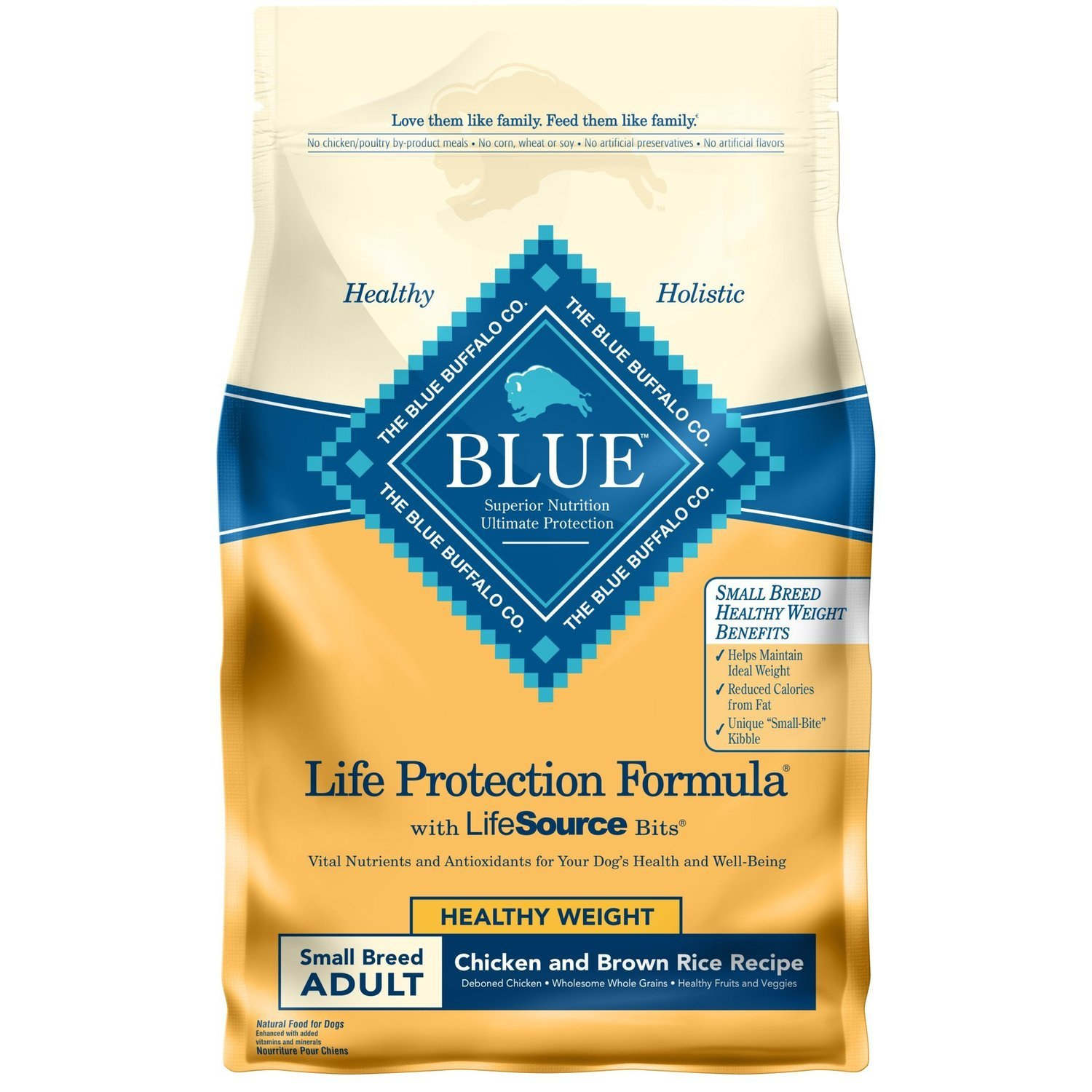 Blue Buffalo Blue Adult Small Breed Healthy Weight Chicken & Brown Rice 6 Lb (2/19) (A.O1)