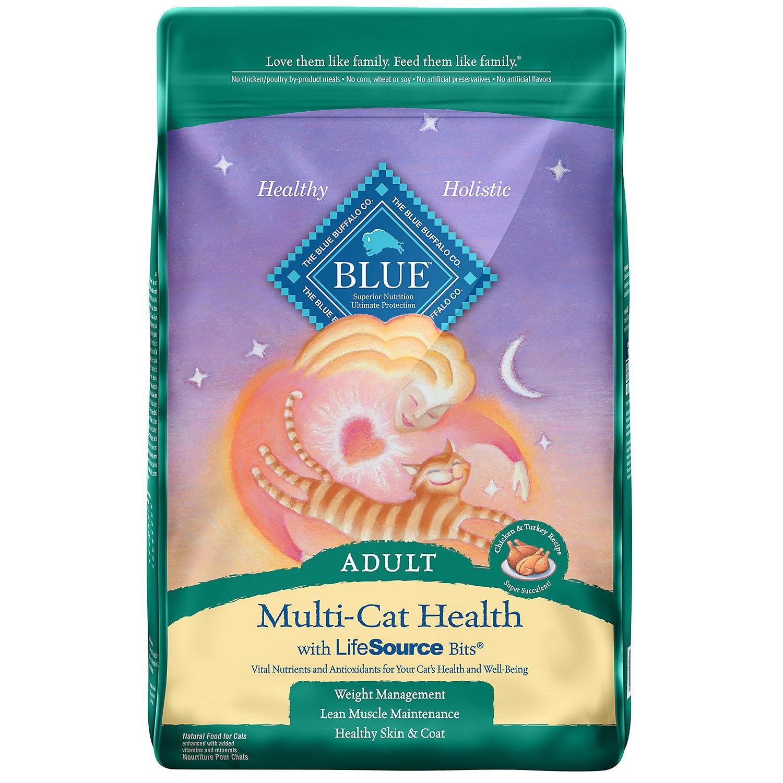 Blue Buffalo Multi-Cat Health Adult Cat Food, 7 lbs. (10/18) (A.K2)