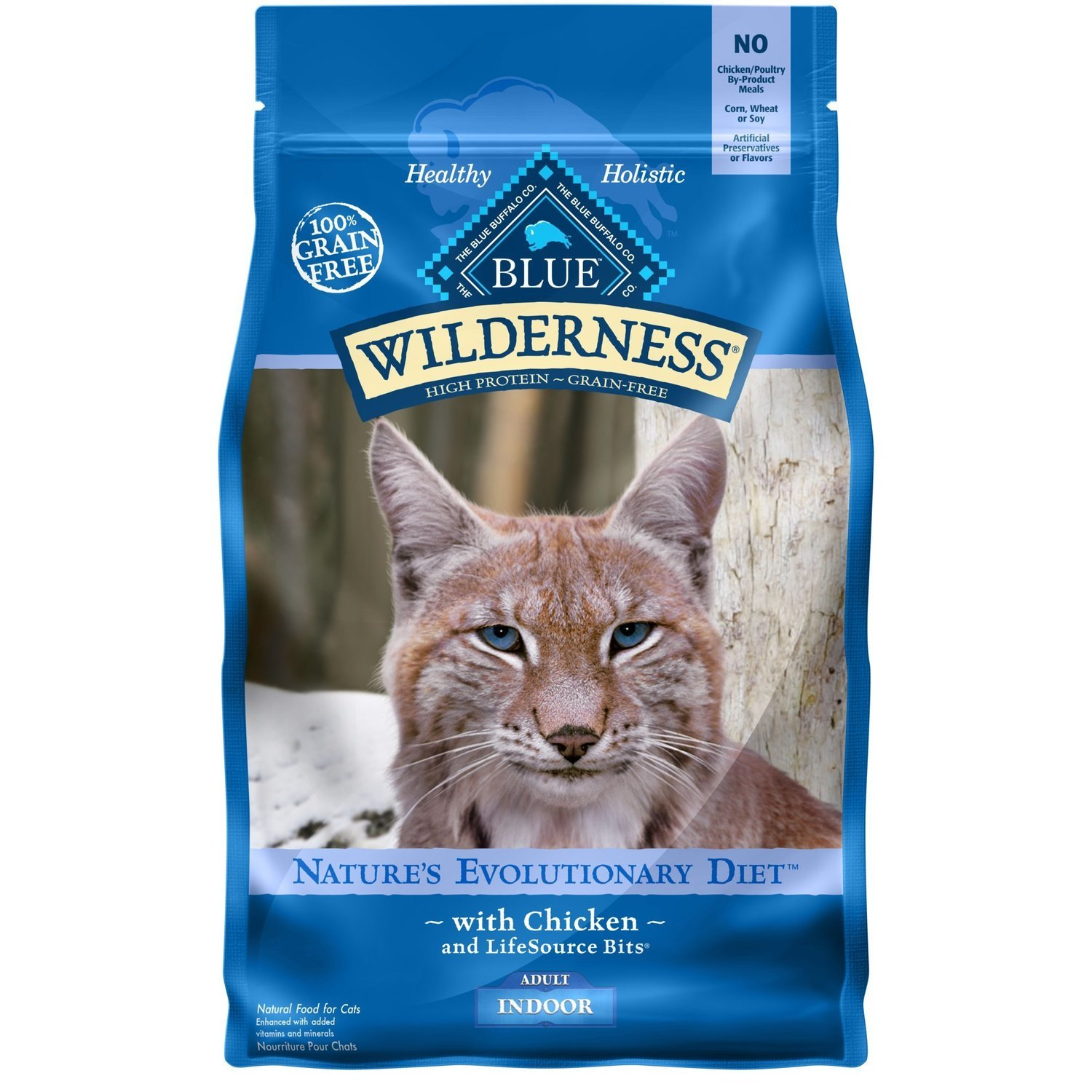Blue Buffalo Wilderness Indoor Chicken Adult Dry Cat Food, 2 lbs. (9/18) (A.K1)