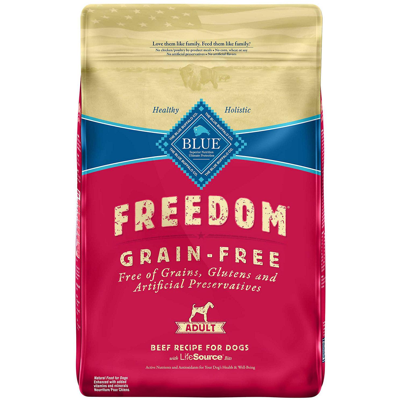 Blue Buffalo Freedom Grain-Free Adult Beef Recipe Dry Dog Food 11-lb (4/19) (A.4)