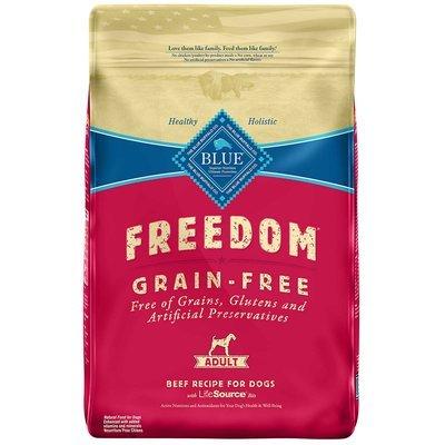 Blue Buffalo Freedom Grain-Free Adult Beef Recipe Dry Dog Food 11-lb (4/19) (A.4/DD)