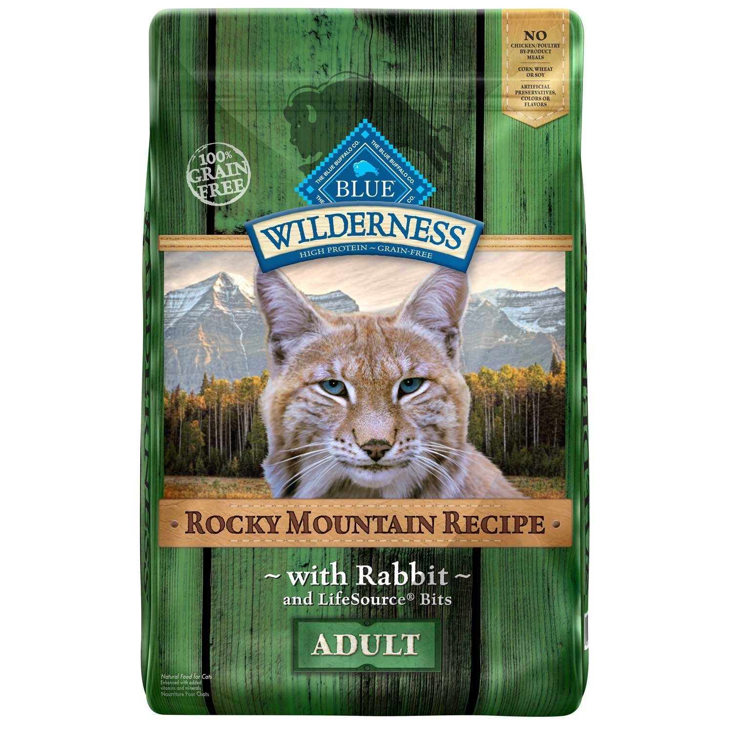 Blue Buffalo Wilderness Grain Free Rocky Mountain Rabbit Adult Cat Food, 10 lbs. (10/18) (A.M5)