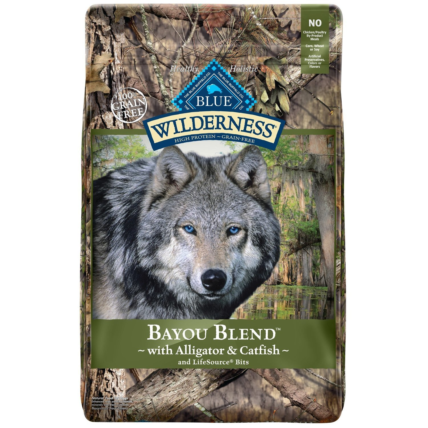BLUE Wilderness Bayou Blend with Alligator & Catfish Dry Dog Food, 22 lbs. (5/19) (A.Q7)