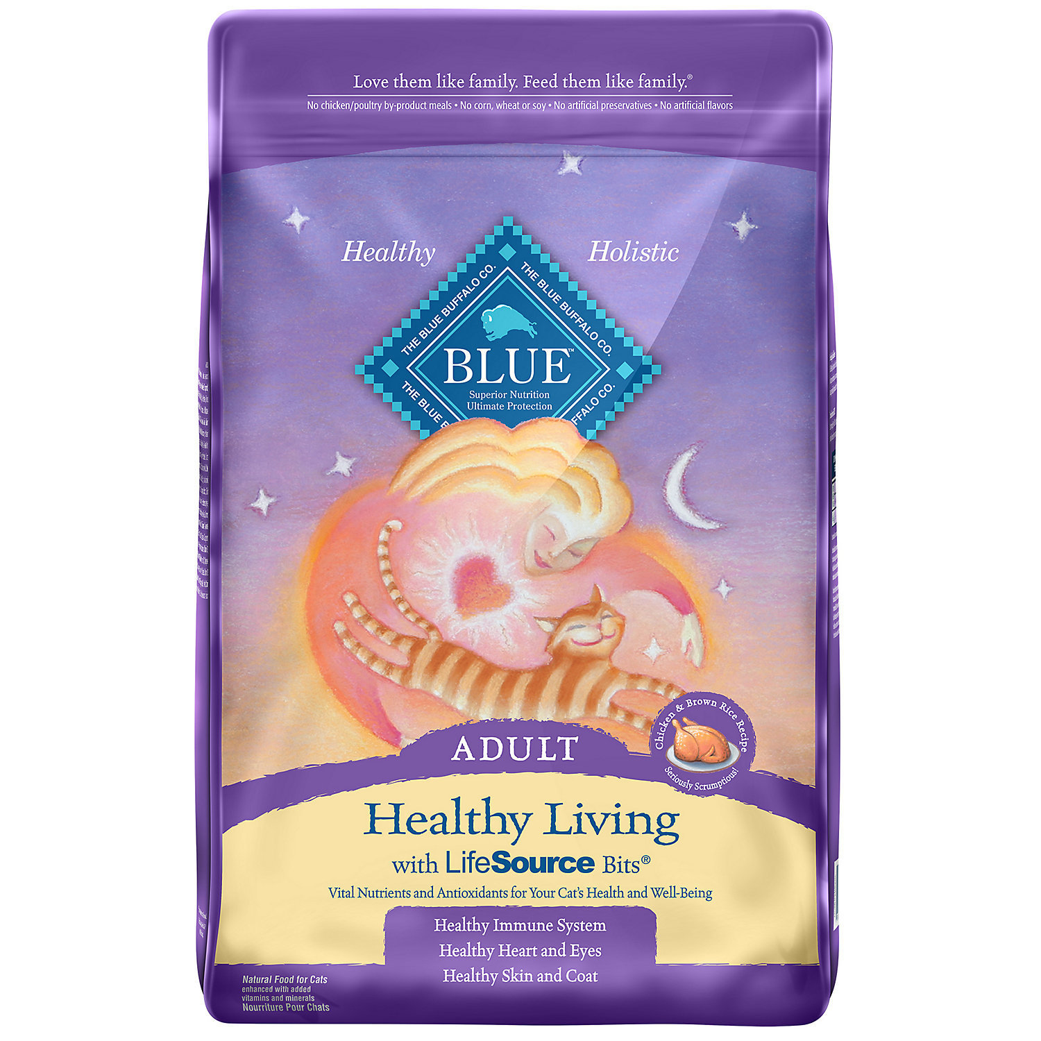 Blue Buffalo Healthy Living Chicken & Brown Rice Adult Cat Food, 3 lbs. (10/18) (A.P2)