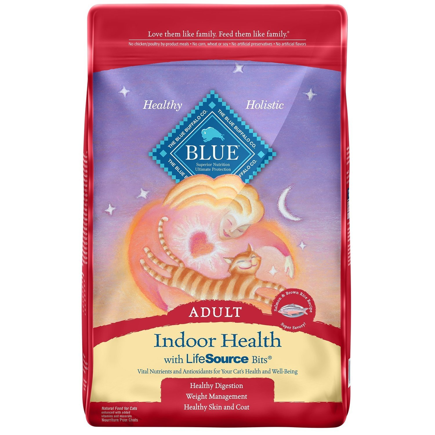 Blue Buffalo Indoor Health Salmon & Rice Adult Dry Cat Food, 15 lbs. (2/19) (A.P2)