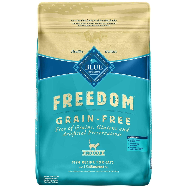 Blue Buffalo Freedom Grain Free Fish Indoor Cat Food, 11 lbs. (7/18) (A.M6)