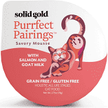 Solid Gold Purrfect Pairings Savory Mousse Goat Milk Grain-Free Cat Food  2.75 oz 6 cups (3/19) (A.K3)