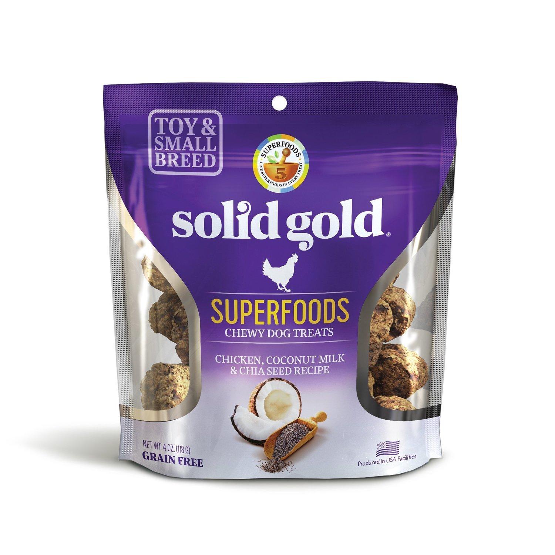 **SALE** Solid Gold Grain Free Chicken, Coconut Milk & Chia Seed Small & Toy Breed Treats 4 oz. (2/19) (T.E4/A.H1)