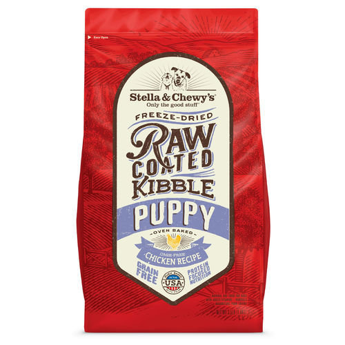 Stella & Chewy's Raw Coated Oven Baked Kibble | Cage Free Chicken For Puppies | 22 lb. (11/18) (A.O1)