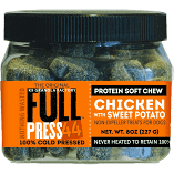 K9 Granola Full Press 44 Cold Press Chew GF Chicken with Sweet Potatoes 8 oz. (1/19) (T.C3)