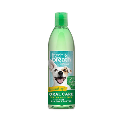 TropiClean Fresh Breath Oral Care Water Additive for Dogs, 16 oz. (O.A1/A.K1)