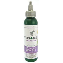 **SALE Vet's Best Ear Relief - Wash and Dry Vet's Ear Relief Wash 4 oz. (4/16) (O.B2)