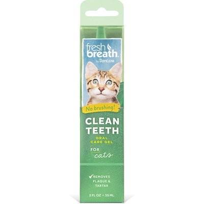 TropiClean Fresh Breath Clean Teeth Gel for Cats, 2 fl. oz. (O.A1)