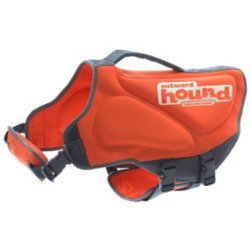 Outward Hound Ripstop Adjustable Dog Life Jacket & Preserver - LARGE - ORANGE  (B.B16/B21)