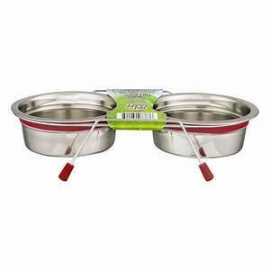 Loving Pets Silent Double Diner Bowl - 1/2 PINT - RED (B.D3/PR/AM7/BOWL)