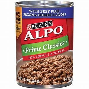 Purina ALPO Prime Classics With Beef Plus Bacon & Cheese Flavors Dog Food 13.2oz 12 count (4/18) (A.L4)