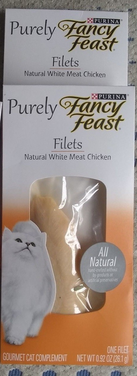 **SALE** Purina Fancy Feast Purely Filets Natural Chicken Adult Wet Cat Food .92 oz 1 count (11/18) (A.L1/CW)