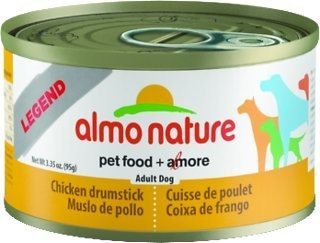 Almo Legend Chicken Drumstick Dog Wet Food 3.35 Oz 24 Count (8/18) (A.K5)