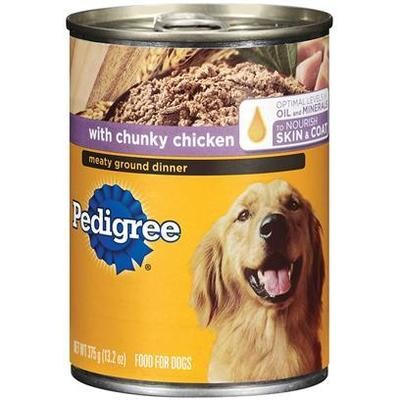 **SALE** Pedigree Meaty Ground Dinner with Chunky Chicken for Dog, 22 Ounce 12 Count (6/18) (A.G2/DW)