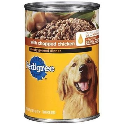 **SALE** Pedigree Meaty Ground Dinner with Chopped Chicken for Dog, 22 Ounce 12 Count (8/18) (A.G3/G4/B/DW)