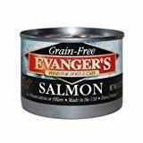 Evanger's Game Meat Can Dog & Cat Wild Salmon 6.0 oz SINGLE CANS (11/20)