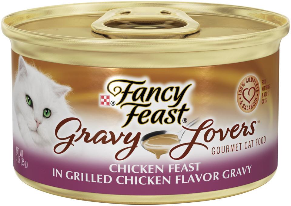 Fancy Feast Gourmet Gravy Lovers Cat Food - Chicken - SINGLE CAN (3 oz) (12/19)