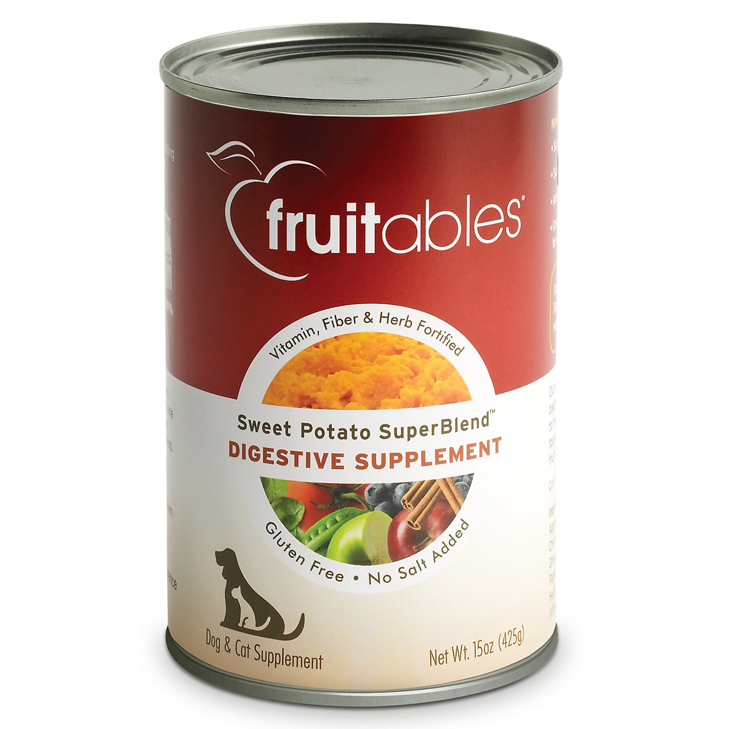 Fruitables Sweet Potato Digestive Supplement Dogs & Cats Can Food (15 oz) SINGLE CANS
