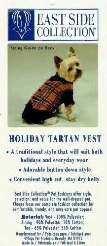 Tartan Vest - SMALL/MEDIUM (B.125)