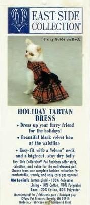 Tartan Dress w/Black Bow - XXS
