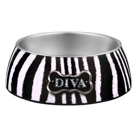 Loving Pets Diva Zebra Milano Bowl - LARGE (B.D11)