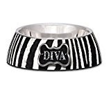 Loving Pets Diva Zebra Milano Bowl - MEDIUM (B.D11)